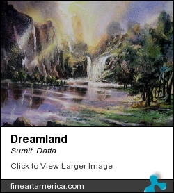 Dreamland by Sumit  Datta - Painting - Mixed Media On Paper