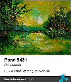 Pond 5431 by Pol Ledent - Painting - Oil On Canvas