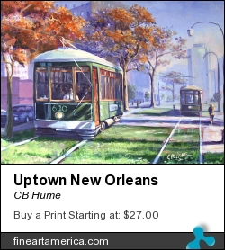 Uptown New Orleans by CB Hume - Painting - Oil On Canvas