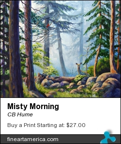 Misty Morning by CB Hume - Painting - Acrylic On Canvas