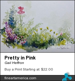 Pretty In Pink by Gail Heffron - Painting - Watercolor