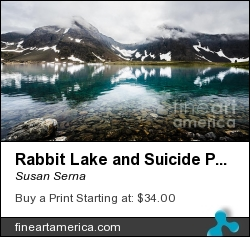 Rabbit Lake And Suicide Peaks by Susan Serna - Photograph - Digital