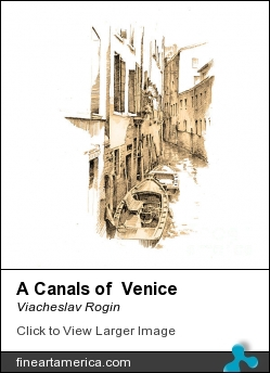 A Canals Of Venice by Viacheslav Rogin - Drawing - Paper, Pencil