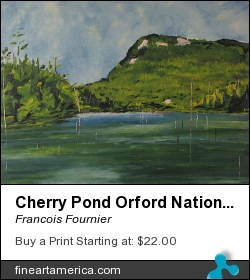 Cherry Pond Orford National Park Quebec Canada by Francois Fournier - Painting - Oil Painting