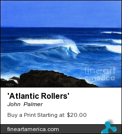 'atlantic Rollers' by John  Palmer - Painting - Pastel