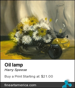 Oil Lamp by Harry Speese - Painting - Oil On Canvas