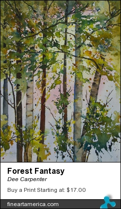 Forest Fantasy by Dee Carpenter - Painting - Watercolor