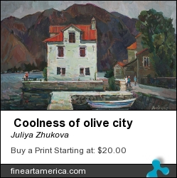 Coolness Of Olive City by JULIYA ZHUKOVA - Painting - Oil On Canvas, 50-80cm