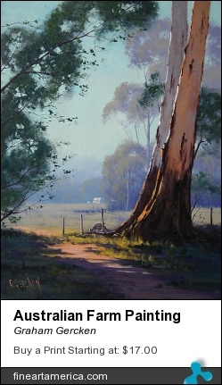 Australian Farm Painting by Graham Gercken - Painting - Oil On Canvas