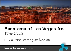 Panorama Of Las Vegas From Mccarran International by Silvio Ligutti - Photograph - Photography
