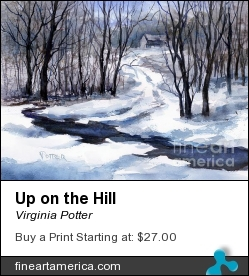 Up On The Hill by Virginia Potter - Painting - Watercolor