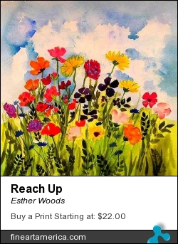 Reach Up by Esther Woods - Painting - Watercolor