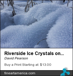Riverside Ice Crystals On Snow by David Pearson - Photograph - Photograph