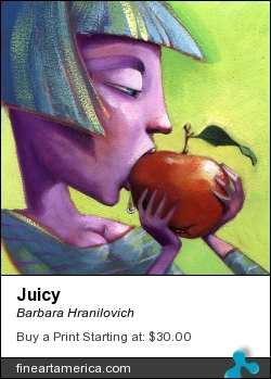 Juicy by Barbara Hranilovich - Painting - Gouache On Paper