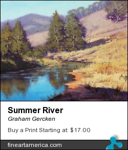 Summer River by Graham Gercken - Painting - Oil On Canvas