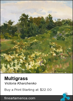 Multigrass by Victoria Kharchenko - Painting - Oil On Canvas