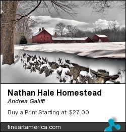 Nathan Hale Homestead by Andrea Galiffi - Photograph