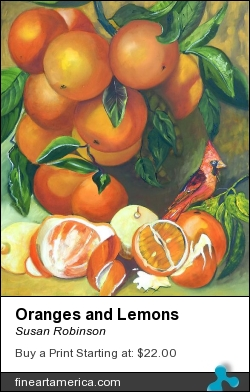 Oranges And Lemons by Susan Robinson - Painting - Oils