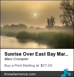 Sunrise Over East Bay Marsh by Marc Crumpler - Photograph