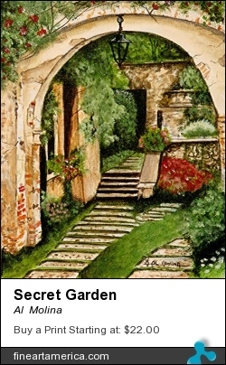 Secret Garden by Al  Molina - Painting - Acrylic On Canvas