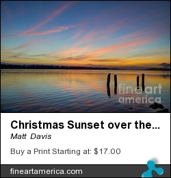 Christmas Sunset Over The Columbia River by Matt  Davis - Photograph - Hdr Images, Digital Art, Photography