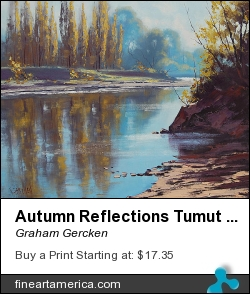 Autumn Reflections Tumut River by Graham Gercken - Painting - Oil On Canvas