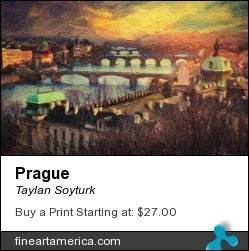 Prague by Taylan Soyturk - Painting - Impasto