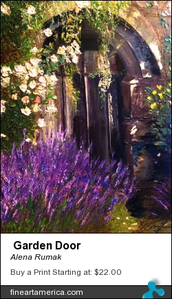 Garden Door by Alena Rumak - Painting - Oil On Canvas