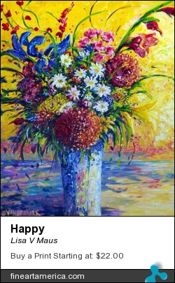 Happy by Lisa V Maus - Painting - Oil On Canvas