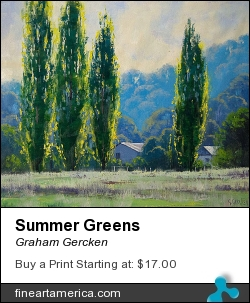 Summer Greens by Graham Gercken - Painting - Oil On Canvas