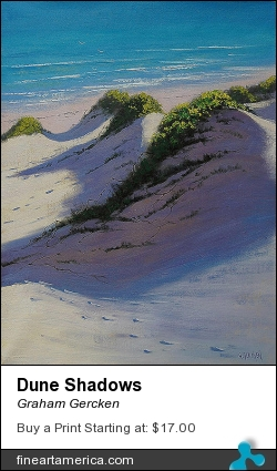 Dune Shadows by Graham Gercken - Painting - Oil On Canvas