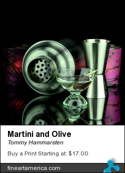 Martini And Olive by Tommy Hammarsten - Photograph - Very High Resolution