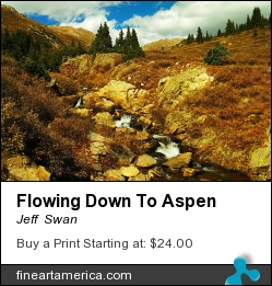 Flowing Down To Aspen by Jeff  Swan - Photograph - Photograph
