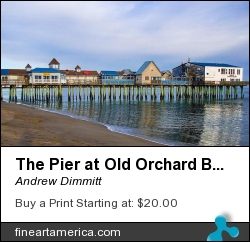 The Pier At Old Orchard Beach by Andrew Dimmitt - Photograph