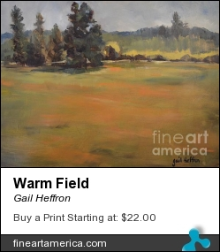 Warm Field by Gail Heffron - Painting