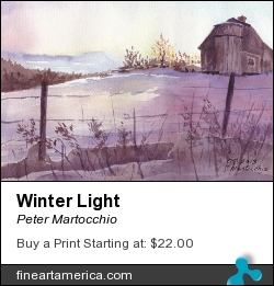 Winter Light by Peter Martocchio - Painting - Watercolor