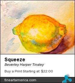 Squeeze by Beverley Harper Tinsley - Painting - Watercolor And Graphite
