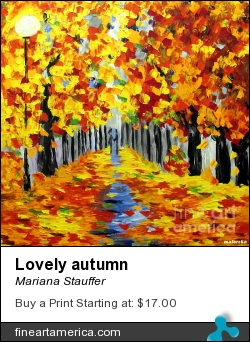 Lovely Autumn by Mariana Stauffer - Painting - Original Painting