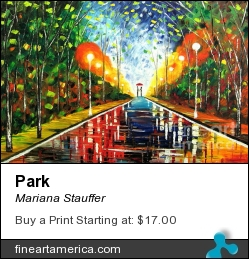 Park by Mariana Stauffer - Painting - Original Painting
