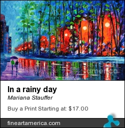 In A Rainy Day by Mariana Stauffer - Painting - Original Painting