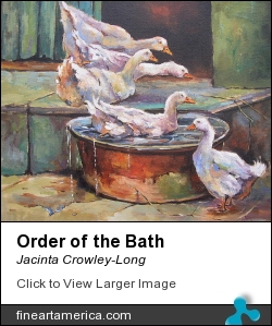 Order Of The Bath by Jacinta Crowley-Long - Painting - Oil On Canvas