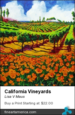 California Vineyards by Lisa V Maus - Painting - Oil On Canvas