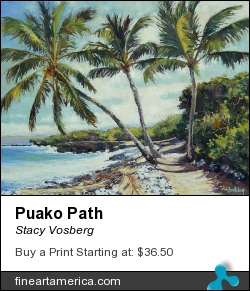 Puako Path by Stacy Vosberg - Painting - Oil On Canvas