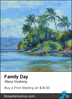Family Day by Stacy Vosberg - Painting - Oil On Panel