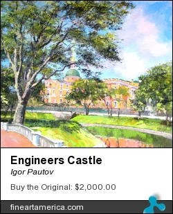 Engineers Castle by Igor Pautov - Painting - Oil On Canvas