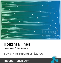 Horizntal Lines by Joanna Cieslinska - Digital Art - Digital Art