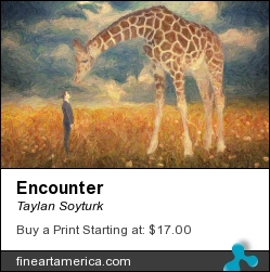Encounter by Taylan Soyturk - Painting - Impasto
