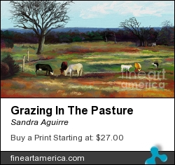 Grazing In The Pasture by Sandra Aguirre - Digital Art