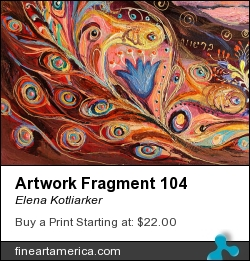 Artwork Fragment 104 by Elena Kotliarker - Painting - Acrylic On Textured Canvas