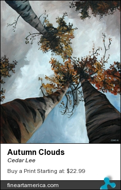 Autumn Clouds by Cedar Lee - Painting - Oil On Canvas